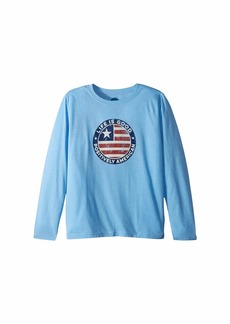 Life is good Positively American Coin Cool T-Shirt Long Sleeve (Little Kids/Big Kids)