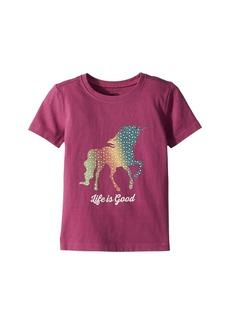 Life is good Rainbow Unicorn Crusher Tee (Toddler)