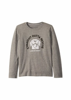 Life is good Rescue Dog Crusher Knit Tee (Little Kids/Big Kids)