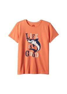 Life is good Shark Crusher Tee (Little Kids/Big Kids)