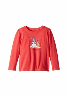 Life is good Snowman and Rocket Crusher Knit Tee (Toddler)