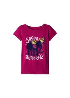 Life is good Social Butterfly Crusher Tee (Little Kids/Big Kids)