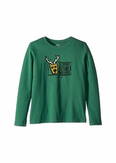 Life is good Straight Outta North Pole Crusher Long Sleeve T-Shirt (Little Kids/Big Kids)