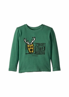 Life is good Straight Outta North Pole Crusher Long Sleeve T-Shirt (Toddler)