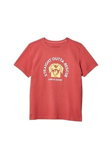 Life is good Straight Outta Rescue Crusher Tee (Little Kids/Big Kids)