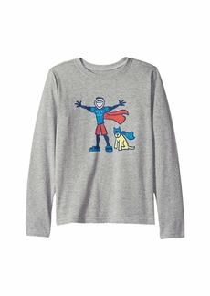 Life is good Superhero Jake and Rocket Crusher T-Shirt Long Sleeve (Little Kids/Big Kids)