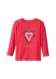 Life is good Sweet Strawberry Long Sleeve Crusher Tee (Toddler)