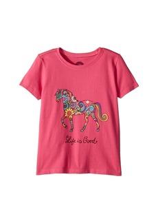 Life is good Swirly Horse Crusher Tee (Toddler)
