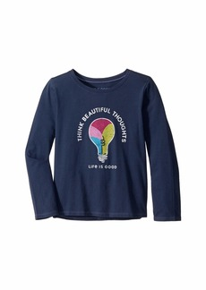 Life is good Think Beautiful Thoughts Crusher Knit Tee (Little Kids/Big Kids)