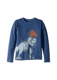 Life is good Tyrannosaurus Tex Crusher T-Shirt Long Sleeve (Little Kids/Big Kids)