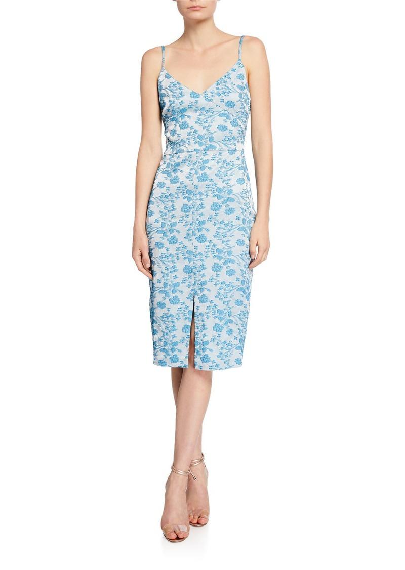 LIKELY Brooklyn Isla Brocade Sleeveless Cocktail Dress