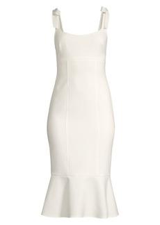 LIKELY Ellery Fluted Hem Midi Dress