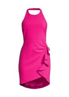 LIKELY Fraya Ruffled Halter Dress