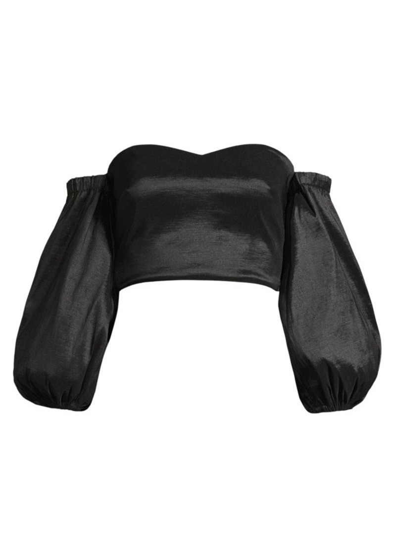 LIKELY Leelee Off-The-Shoulder Cropped Top