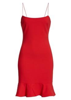 LIKELY Banks Ruffle Hem Sheath Dress