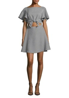 Likely Checkered A-Line Dress