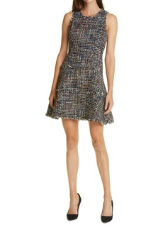 LIKELY Multicolor Tweed Sleeveless Fit & Flare Dress