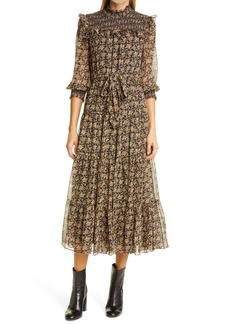 LIKELY Noreena Floral Smocked Midi Dress