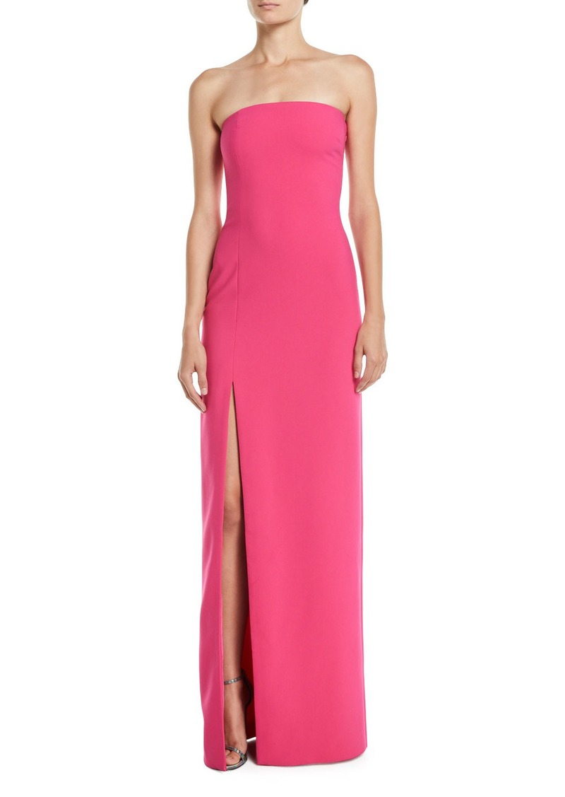 Likely Palmer Strapless Gown w/ High Slit