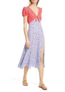 LIKELY Raffa Mixed Print Puff Sleeve Dress