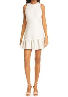 LIKELY Toni Tweed Ruffle Minidress