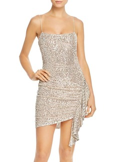 LIKELY Whitney Sequined & Ruched Mini Dress