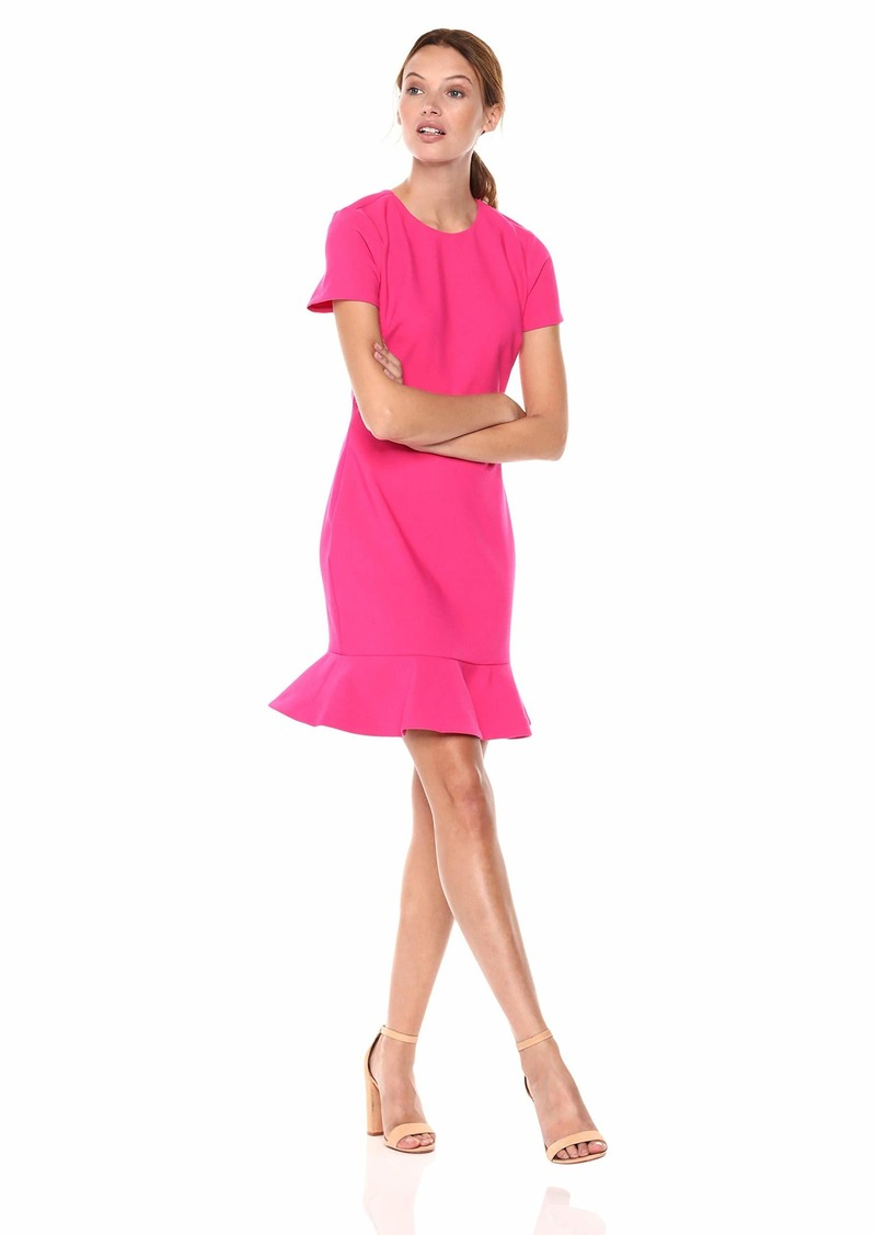LIKELY Women's Beckett Short Sleeve Ruffle Dress