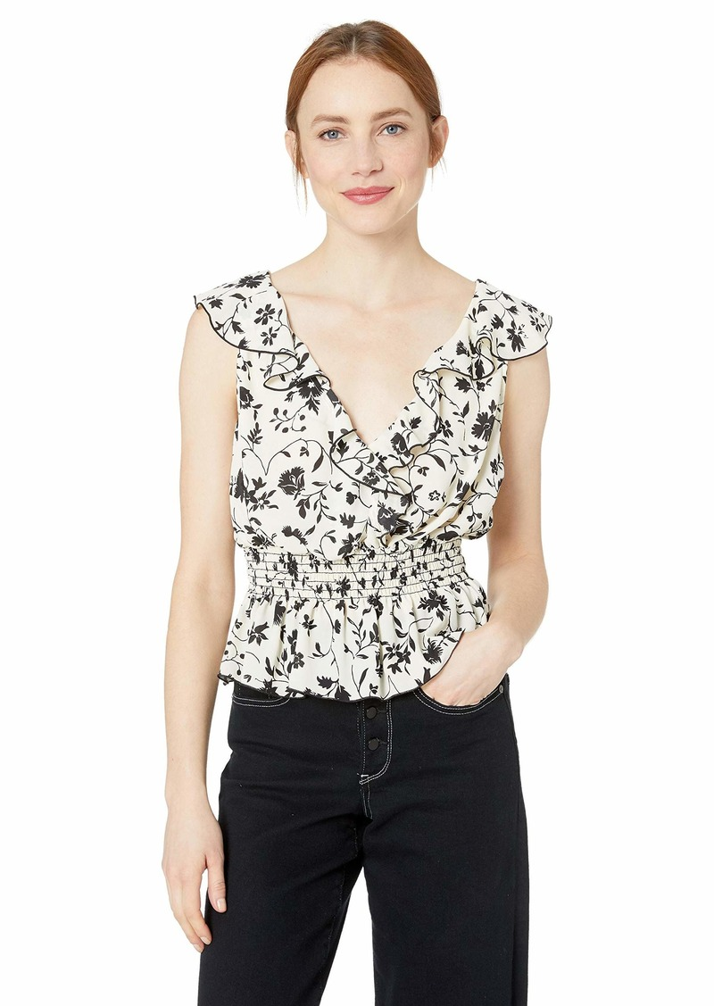 LIKELY Women's Elisabeth Top Ivory/Black XS