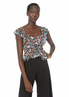 LIKELY Women's Lavato Printed Floral Smocked top  L