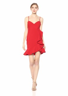 LIKELY Women's Laverna Ruffle Trim Mini Cocktail Dress