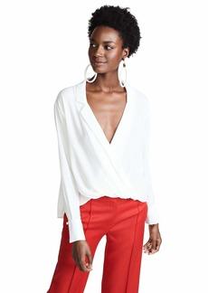 LIKELY Women's Mimi Long Sleeve Half Tuck Blouse  S