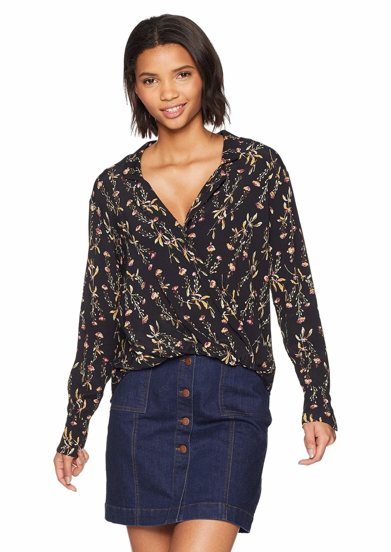 LIKELY Women's Mimi Printed Long Sleeve Half Tuck Blouse  M
