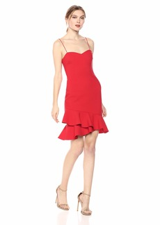 LIKELY Women's Verona Favorite Stretch Ruffle Hem Cocktail Dress
