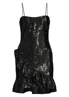 LIKELY Lilia Ruffle Sequin Mini Dress