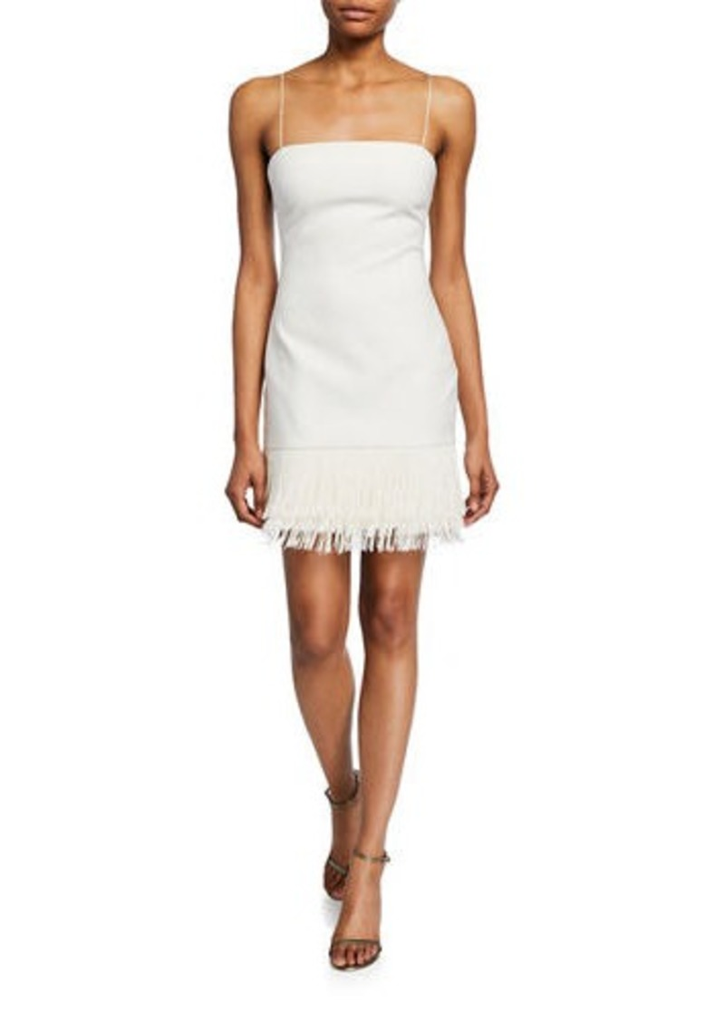 LIKELY Melly Short Cocktail Dress with Fringe