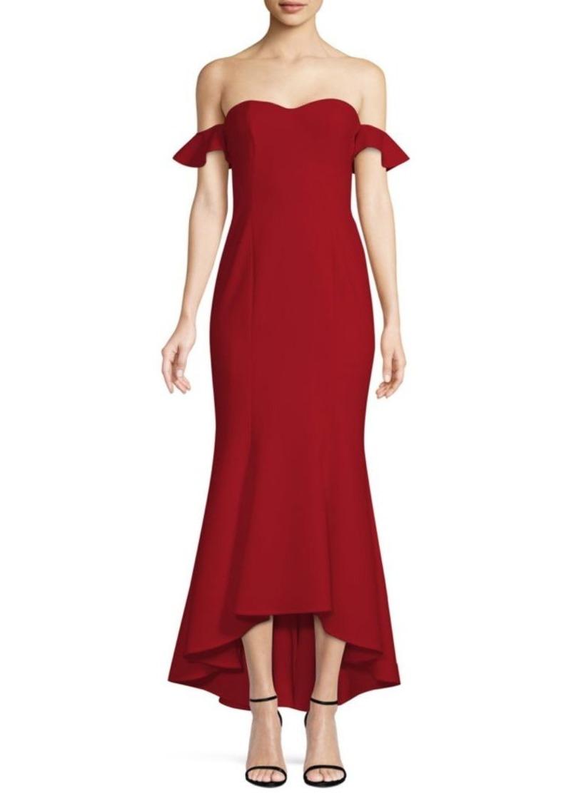 176f5569cf68 LIKELY Sunset Off-the-Shoulder Floucne Dress