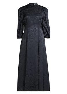LIKELY Vista Leopard Midi Dress
