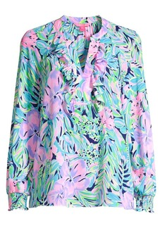 Lilly Pulitzer Angelika Tropical Floral-Print Tunic