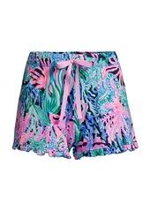 Lilly Pulitzer Coral-Print Pajama Shorts