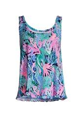 Lilly Pulitzer Coral-Print Pajama Tank Top