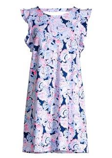 Lilly Pulitzer Dani Ruffled Abstract Shift Dress