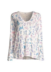 Lilly Pulitzer Dog Graphic Pajama Long-Sleeve T-Shirt