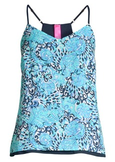 Lilly Pulitzer Dusk Abstract Top