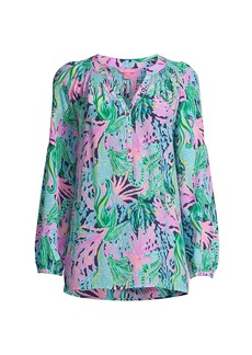 Lilly Pulitzer Elsa Mermaid Silk Blouse