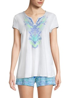 Lilly Pulitzer Embroidered Tunic Top