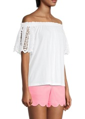 Lilly Pulitzer Fayette Eyelet Sleeve Top