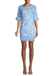 Lilly Pulitzer Fiesta Floral Bell-Sleeve Shift Dress