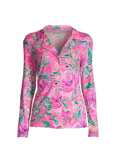 Lilly Pulitzer Floral-Print Knit Pajama Top