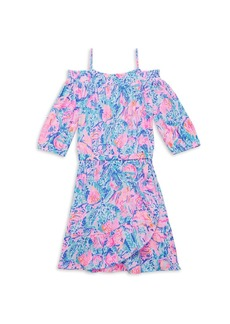 Lilly Pulitzer Gilr's Dorita Seashell-Print Off-The-Shoulder Dress