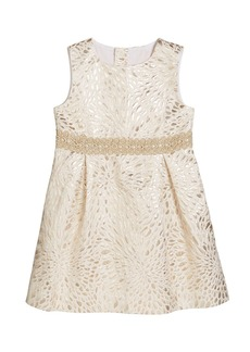 Lilly Pulitzer Girl's Abrianna Metallic Jacquard Dress  Size 2-14
